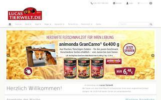 Lucas Tierwelt Webseiten Screenshot