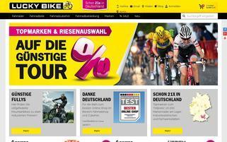 Lucky Bike Webseiten Screenshot