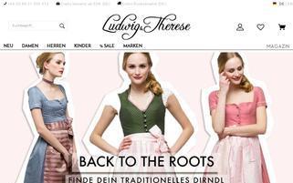Ludwig und Therese Webseiten Screenshot