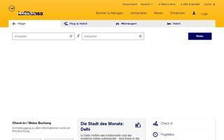 Lufthansa Webseiten Screenshot