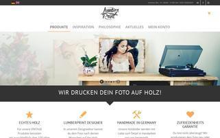 lumberprint.de Webseiten Screenshot