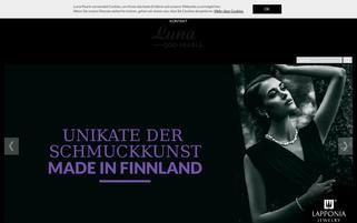 Luna Pearls Webseiten Screenshot