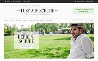 Lust auf Schuhe Webseiten Screenshot