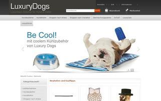 Luxurydogs Webseiten Screenshot