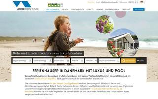 Luxusferienhaus.de Webseiten Screenshot