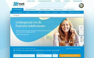 M-net Webseiten Screenshot