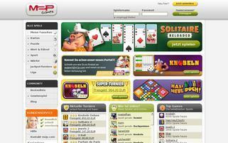 M2P Games Webseiten Screenshot