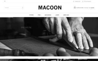 macooncase.com Webseiten Screenshot