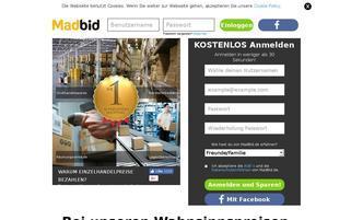 MadBid Webseiten Screenshot