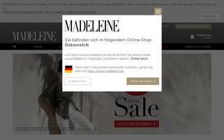 madeleine-mode.at Webseiten Screenshot