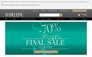 Madeleine Webseiten Screenshot