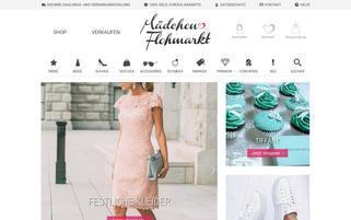 Mädchenflohmarkt Webseiten Screenshot