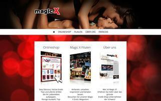 Magic-X Schweiz Webseiten Screenshot