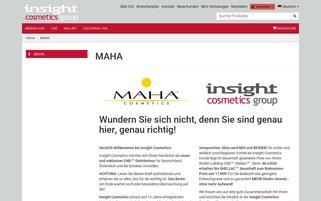 Maha Cosmetics Webseiten Screenshot