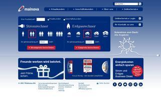 Mainova Webseiten Screenshot