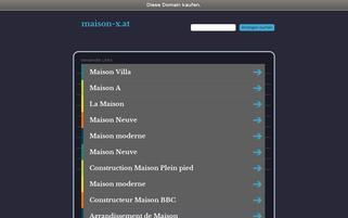Maison-X Webseiten Screenshot