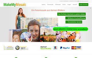 MakeMyMosaic Webseiten Screenshot