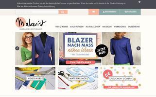 makerist Webseiten Screenshot
