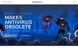 Malwarebytes Webseiten Screenshot