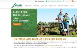 Mantis Webseiten Screenshot