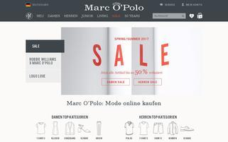 Marc O'Polo Webseiten Screenshot