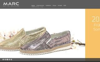 MARC Shoes Webseiten Screenshot