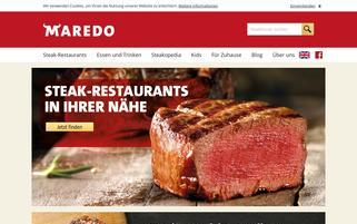 Maredo Webseiten Screenshot