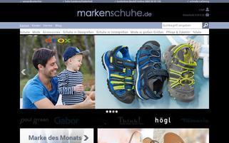 Markenschuhe.de Webseiten Screenshot