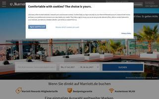 Marriot Webseiten Screenshot