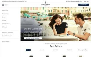 Maserati Store Webseiten Screenshot