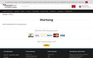 Masterhair Webseiten Screenshot