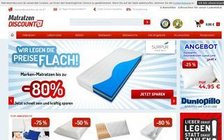 Matratzendiscount Webseiten Screenshot
