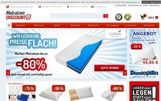 Matratzendiscount Webseiten Screenshot