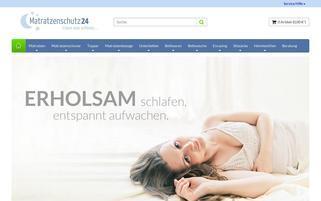 Matratzenschutz24 Webseiten Screenshot