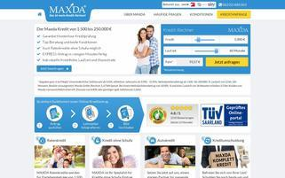 MAXDA Webseiten Screenshot