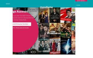 Maxdome Webseiten Screenshot