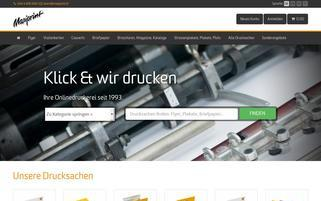 Maxiprint.ch Webseiten Screenshot