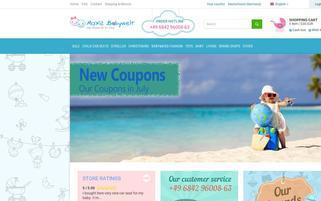 Maxis Babywelt Webseiten Screenshot