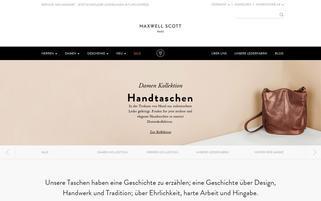 maxwellscottbags.de Webseiten Screenshot