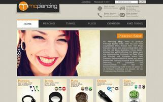 Mc Piercing Webseiten Screenshot