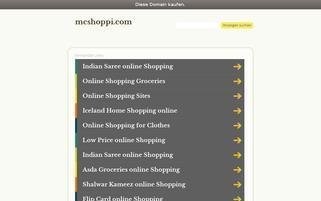 MC Shoppi Webseiten Screenshot