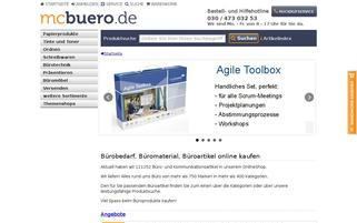 mcbuero Webseiten Screenshot