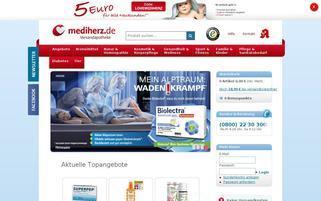 Mediherz Webseiten Screenshot