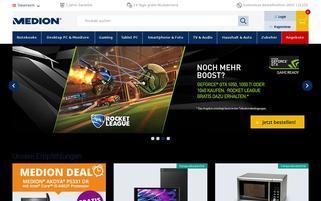 Medion Österreich Webseiten Screenshot