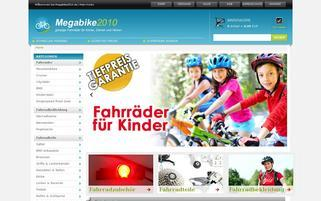 Megabike2010 Webseiten Screenshot
