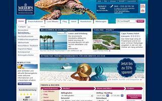Meiers-Weltreisen Webseiten Screenshot