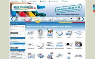 Mein Druckservice Webseiten Screenshot