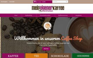 Mein eigener Kaffee Webseiten Screenshot