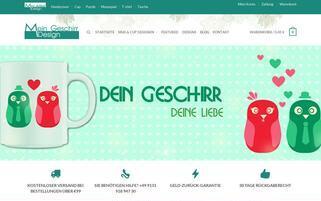 mein-geschirr-design.de Webseiten Screenshot