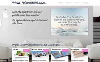mein-wandbild.com Webseiten Screenshot